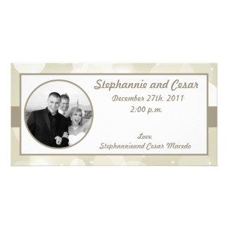 4x8 Engagement Photo Announcement Christmas Stars Photo Card
