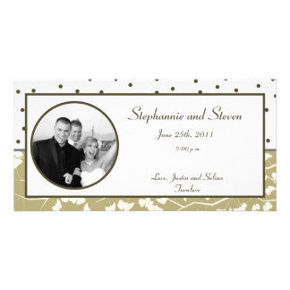 4x8 Engagement Photo Announcement Ginkgo Leaves Photo Card Template
