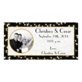 4x8 Engagement Photo Announcement Glowing Summer L Picture Card