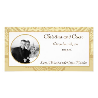 4x8 Engagement Photo Announcement Moroccan Party Photo Greeting Card