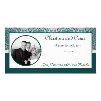 4x8 Engagement Photo Announcement Night in India Picture Card