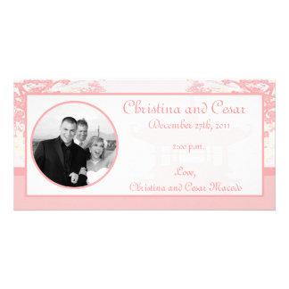 4x8 Engagement Photo Announcement Oriental Garden Customised Photo Card