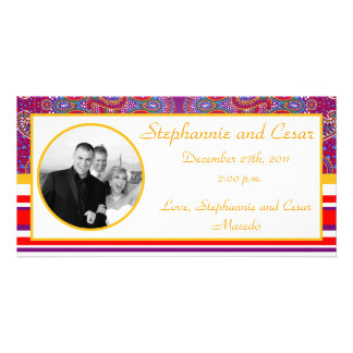 4x8 Engagement Photo Announcement Purple Palace Photo Greeting Card
