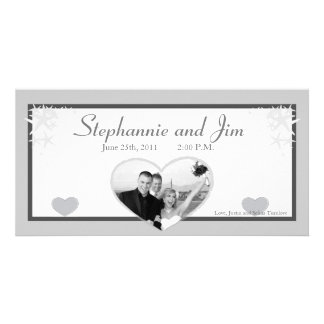 4x8 Engagement Photo Announcement Summer Love Sea Customised Photo Card