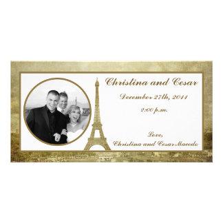 4x8 Engagement Photo Announcement Vintage Paris Picture Card