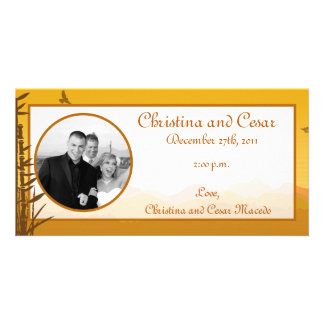 4x8 Engagement Photo Announcement Warm Sunset Photo Cards