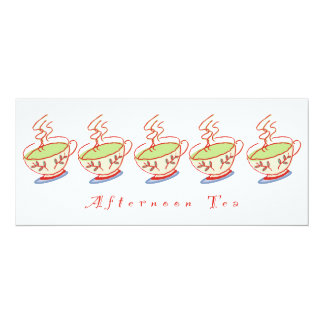 """4x9.25"""" Afternoon Tea Invitation"""