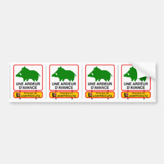 4x Petit STICKER CONVEYS - a HEAT IN ADVANCE Bumper Sticker