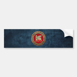 [500] Babylonian Winged Bull Lamassu [3D] Bumper Stickers