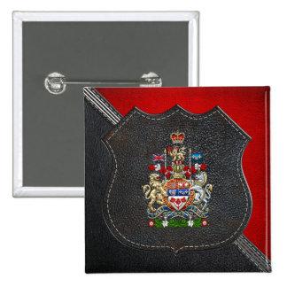 [500] Canada Coat of Arms [3D] 15 Cm Square Badge