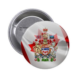 [500] Canada Coat of Arms [3D] 6 Cm Round Badge