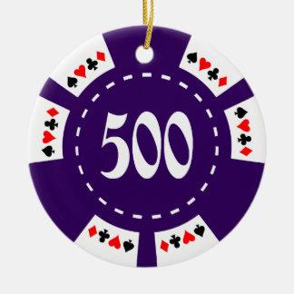 500 Dollar Poker Chip Christmas Ornament