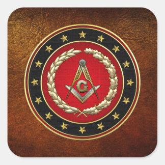 [500] Masonic Square and Compasses [3rd Degree] Square Sticker