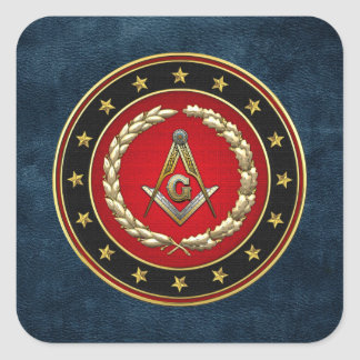[500] Masonic Square and Compasses [3rd Degree] Stickers