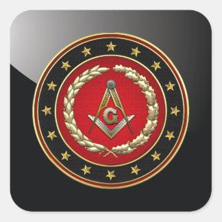 [500] Masonic Square and Compasses [3rd Degree] Square Stickers