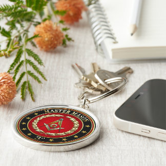 [500] Master Mason, 3rd Degree [Special Edition] Silver-Colored Round Key Ring