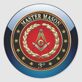 [500] Master Mason, 3rd Degree [Special Edition] Round Stickers