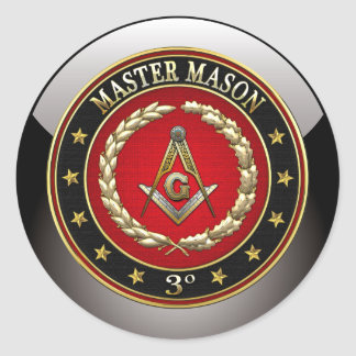[500] Master Mason, 3rd Degree [Special Edition] Classic Round Sticker