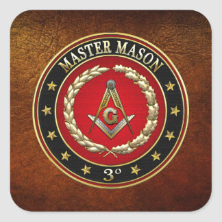 [500] Master Mason, 3rd Degree [Special Edition] Sticker