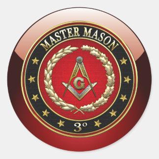[500] Master Mason, 3rd Degree [Special Edition] Round Sticker