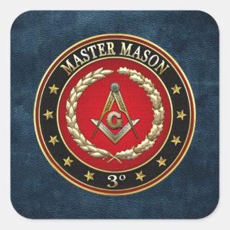 [500] Master Mason, 3rd Degree [Special Edition] Square Sticker