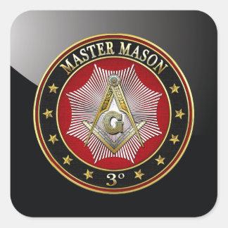 500 Master Mason - 3rd Degree Square Compasses Stickers