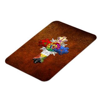 [500] Rosy Cross (Rose Croix) Flexible Magnets