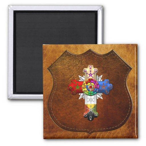 [500] Rosy Cross (Rose Croix) Fridge Magnet
