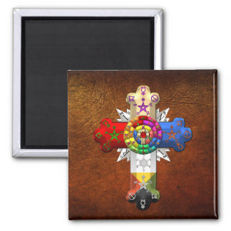 [500] Rosy Cross (Rose Croix) Refrigerator Magnets
