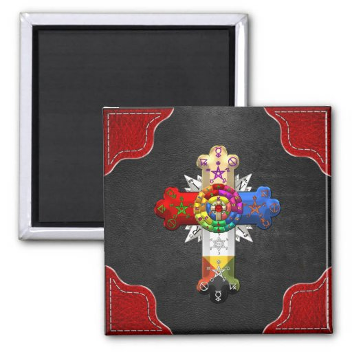 [500] Rosy Cross (Rose Croix) Magnets
