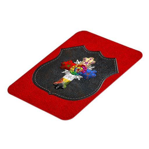 [500] Rosy Cross (Rose Croix) Rectangle Magnets