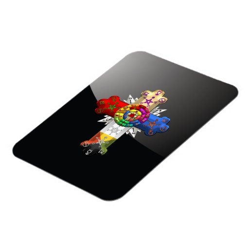 [500] Rosy Cross (Rose Croix) Flexible Magnet