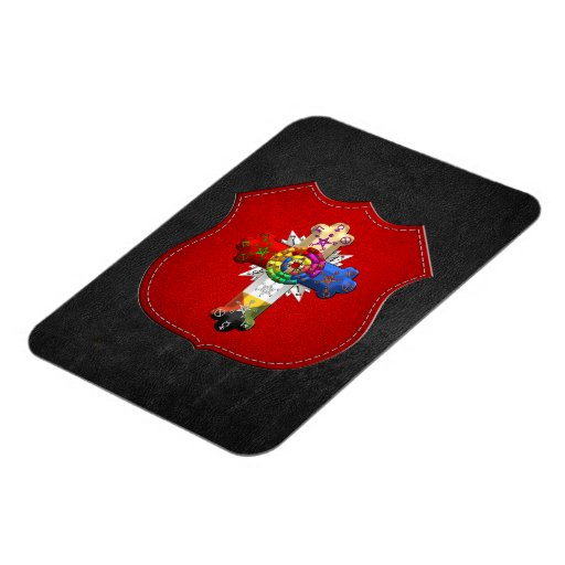 [500] Rosy Cross (Rose Croix) Rectangle Magnet