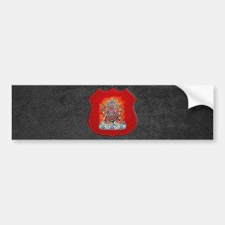 500 Tibetan Thangka - Wrathful Deity Hayagriva Bumper Sticker