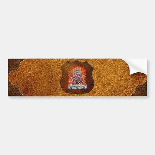 [500] Tibetan Thangka  - Wrathful Deity Hayagriva Bumper Sticker