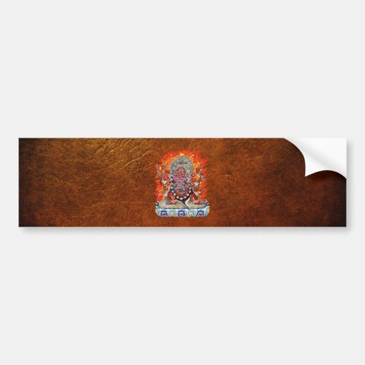 [500] Tibetan Thangka  - Wrathful Deity Hayagriva Bumper Stickers