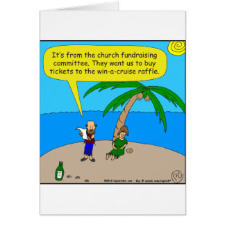 501 church fundraiser cartoon greeting card