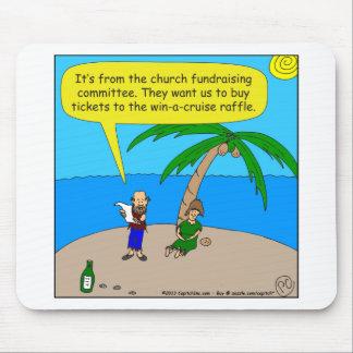 501 church fundraiser cartoon mouse pad