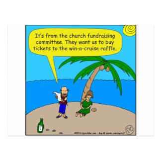 501 church fundraiser cartoon postcard