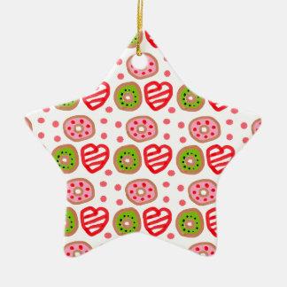 501 Cute Christmas dessert graffiti pattern.jpg Ceramic Star Decoration