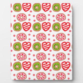 501 Cute Christmas dessert graffiti pattern.jpg Plaque