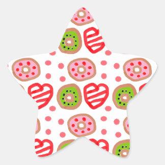 501 Cute Christmas dessert graffiti pattern.jpg Star Sticker