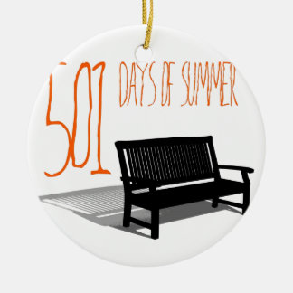 501 Days Of Summer Round Ceramic Decoration