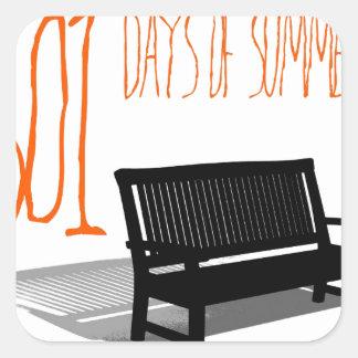 501 Days Of Summer Square Sticker