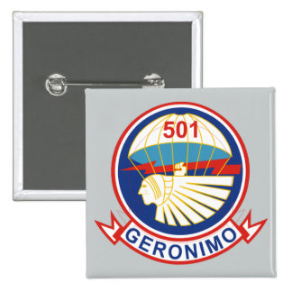 501st Parachute Infantry Regiment 15 Cm Square Badge