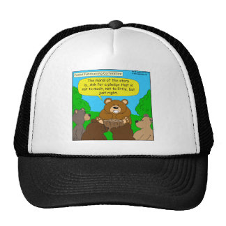 502 fundraising ask just the right way cartoon mesh hat
