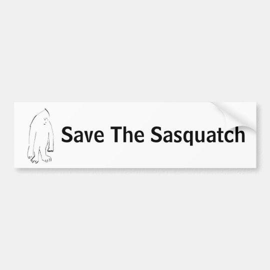 504590327_dc60e33955, Save The Sasquatch Bumper Sticker