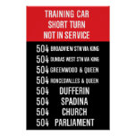 504 KING streetcar rollsign - CLRV/ALRV Poster