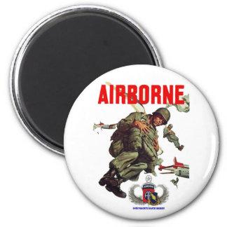 504th  AIRBORNE REGIMENT 6 Cm Round Magnet