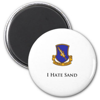 504th- I Hate Sand 6 Cm Round Magnet